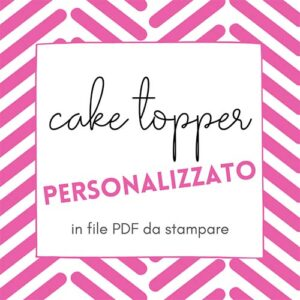 Cake topper digitale