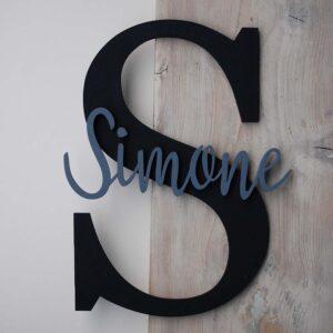 lettera e nome di legno
