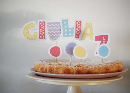 cake topper coriandoli