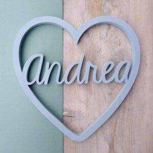 fiocco nascita con cuore e nome