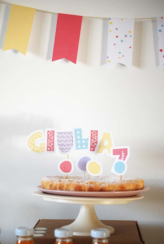 decorazione torta coriandoli