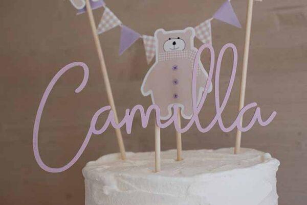 Cake topper per battesimo