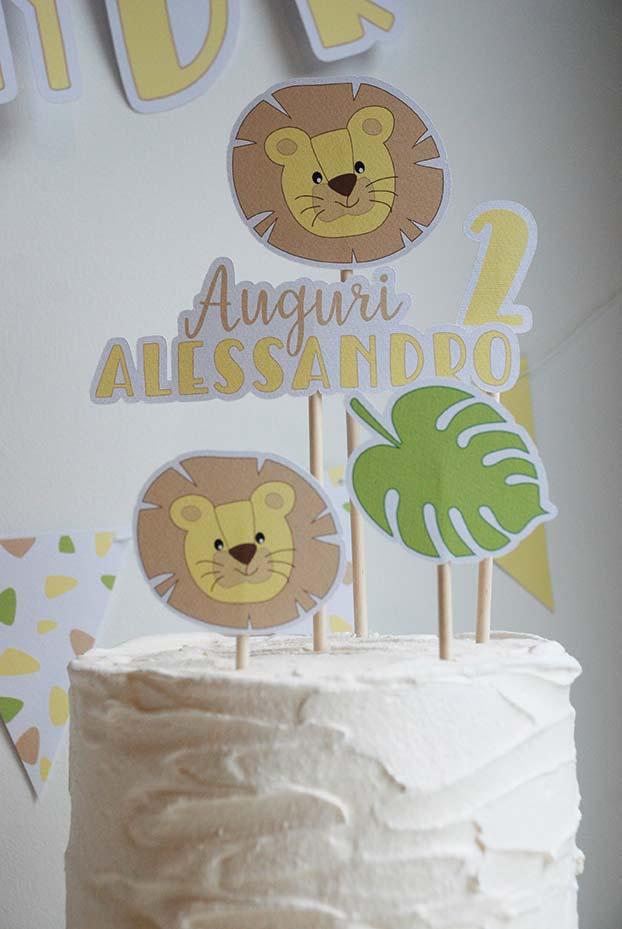 cake topper di carta