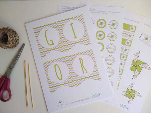 party kit da stampare a casa