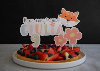 """Crostata con kit """"Volpe Primavera"""""""