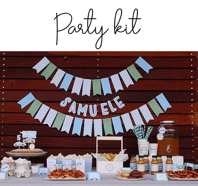 Party kit per compleanni